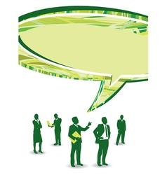 speech business people vector image vector image
