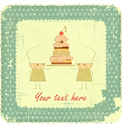 Vintage Menu Card Designs with Chefs vector image vector image