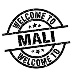 Welcome to mali black stamp vector