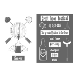 Beer Craft Fest Two-color Poster vector image