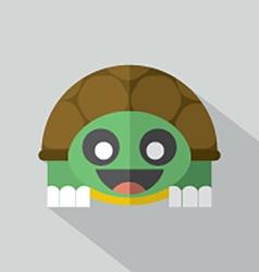 Modern Flat Design Turtle Icon vector image