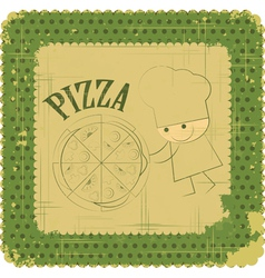 Vintage Pizza Menu Card vector image vector image