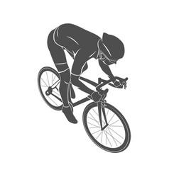 athlete bike cyclist vector image vector image