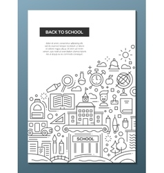 Back to School - line design brochure poster vector image vector image