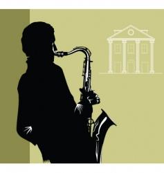 city jazz vector image