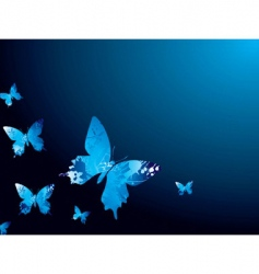 cool butterfly vector image vector image