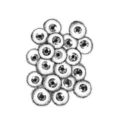 Dotwork human eyeballs vector