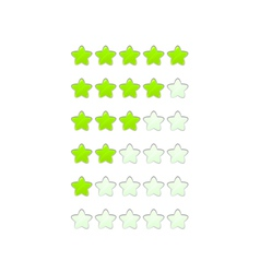 loading bar from stars like a flower vector image