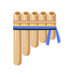 panpipes flute musical instrument native american vector image