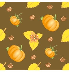 Seamless autumn vegetable pattern vector image