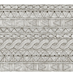 seamless tribal pattern Hand-drawn background vector image vector image