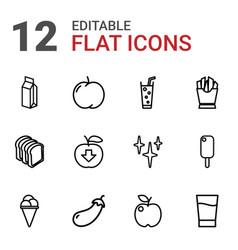 12 fresh icons vector