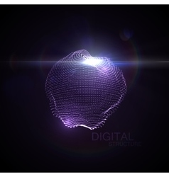 3D illuminated distorted sphere vector