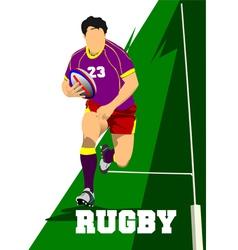 al 0343 rugby 01 vector image