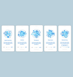 Analytical thinking onboarding mobile app page vector