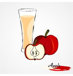 Apple juice vector