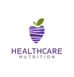 Avocado fruit healthcare logo design food drink vector