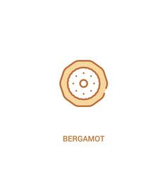 Bergamot concept 2 colored icon simple line vector