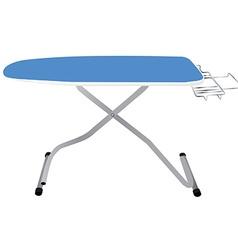 Blue ironing board vector