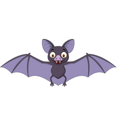 cartoon bat isolated on white background vector image
