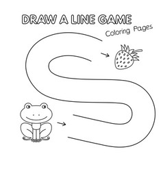 cartoon frog coloring book game for kids vector image