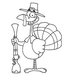 Cartoon turkey vector image