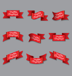 celebration christmas banners vector image