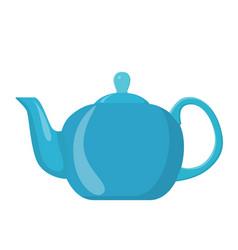 ceramic teapot kettle vector image