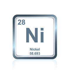 chemical element nickel from the periodic table vector image