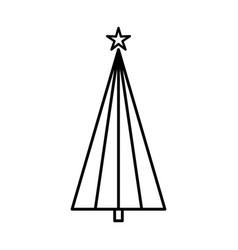 christmas tree graphic art design new year fir vector image