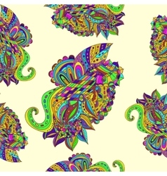 Color doodle background vector image