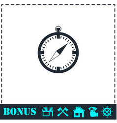 compass icon flat vector image