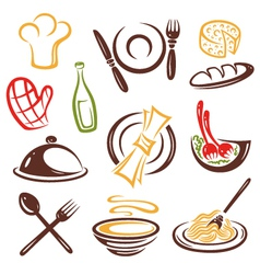 Cook cooking set vector