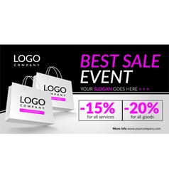 Corporate banner for best sale event vector