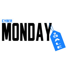cyber monday label vector image