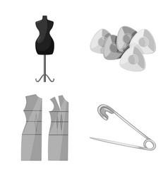 Design dressmaking and textile sign set vector