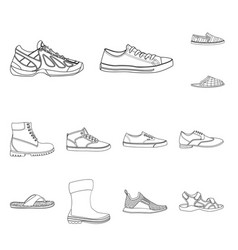 Design of man and foot icon set of man and vector