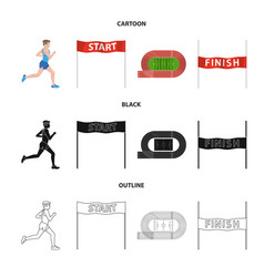 design of sport and winner symbol vector image