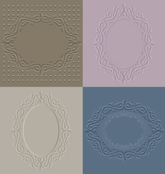 Embossed frames vector