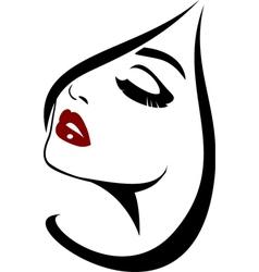 Fashion face closeup vector