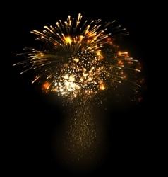 Festive Christmas grandiose firework explode vector image
