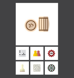 Flat icon entertainment set of arrow labyrinth vector