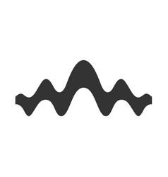 Fluid wave glyph icon silhouette symbol flowing vector