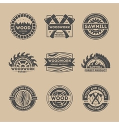 Forest product vintage isolated label set vector
