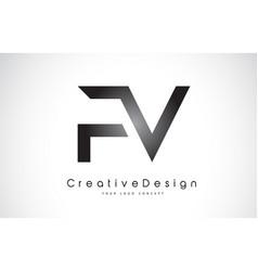 Fv f v letter logo design creative icon modern vector