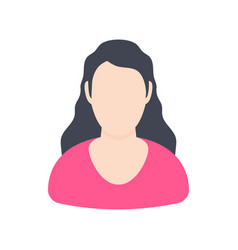 girl user avatars on a white background vector image