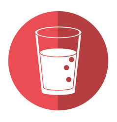 Glass cup juice nature shadow vector