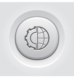 Global integration icon vector