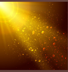 gold and brown background with space for text vector image