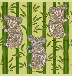 hand drawn zentangle koala vector image